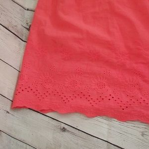 Flying Tomato Dresses - Flying tomato tube top lace embroidery dress pink